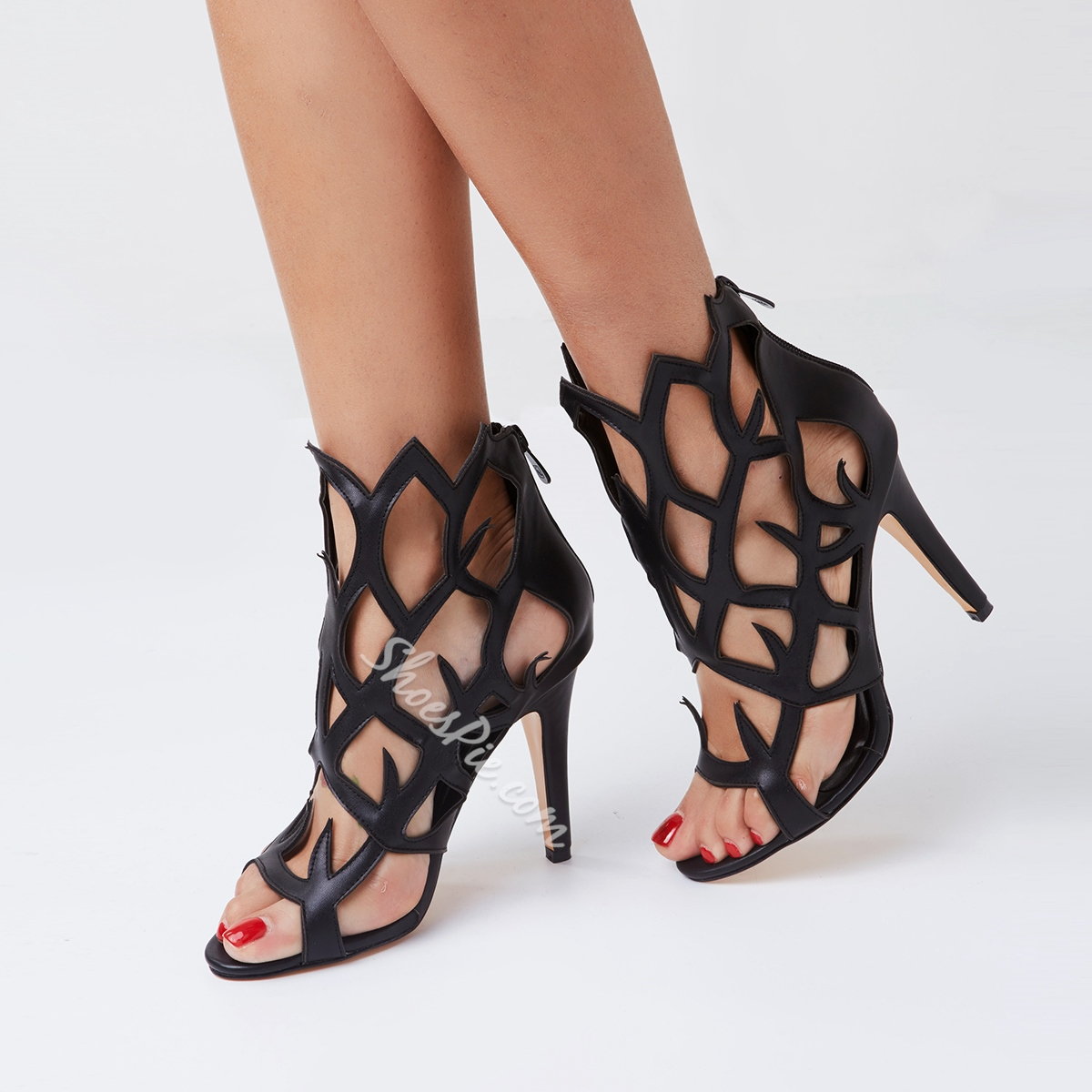 Irresistible Coppy Leather Cut-Outs Dress Sandals