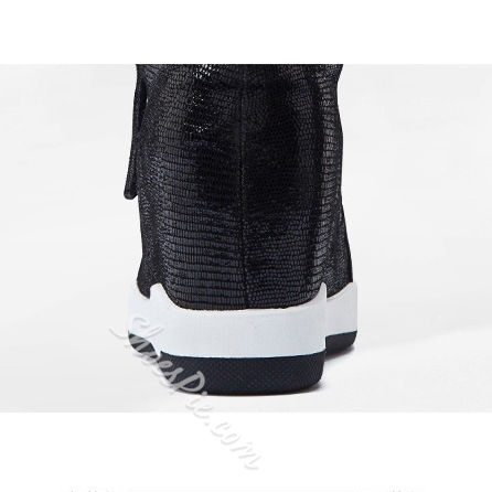 Shoespie Fashion Side Zipper Sneaker