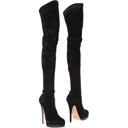 Shoespie Black Suede-like Extreme High Heel Thigh High Boots