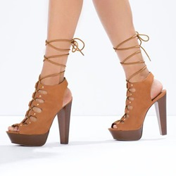 Shoespie Laceup Platform Sandals