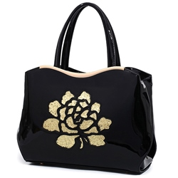 Shoespie Floral Appliqued Handbag