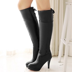 Shoespie Closed Toe Knee High Boots