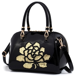 Shoespie Floral Appliauqed Hanfbag
