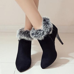 Shoespie Suede-like Furry Ankle Boots
