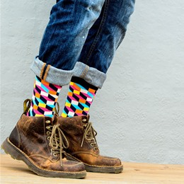 Shoespie Color Block Mid Socks