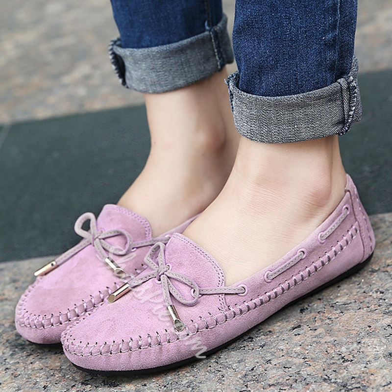 Shoespie Sweet Bow Knot Comfortable Loafers