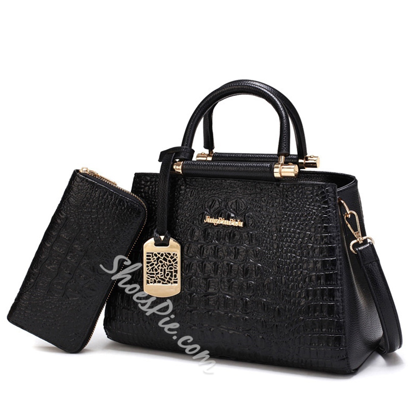 Shoespie Alligator Pattern Bag Sets