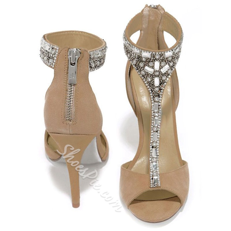 Shoespie Elegant Rhinestone Dress Sandals
