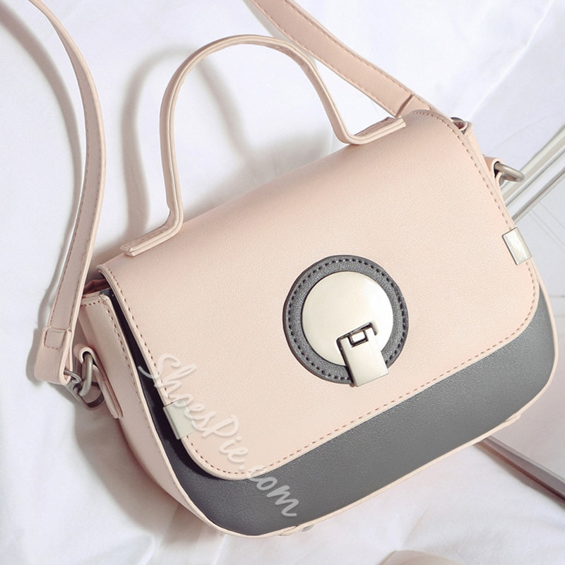 Shoespie Elegant Color Block Crossbody Bag