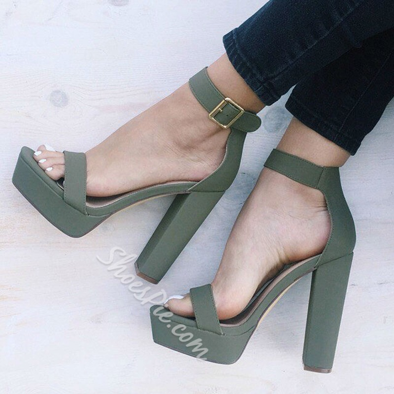 Shoespie New Chunky Heel Platform Sandals