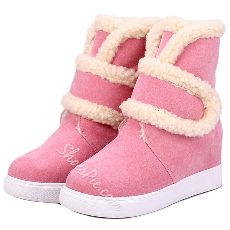 Shoespie Cute Contrast Color Snow Boots