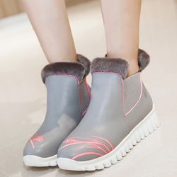 Shoespie Warm Round Toe Shearling Snow Boots