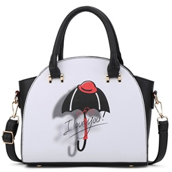 Shoespie Umbrella Print Handbag