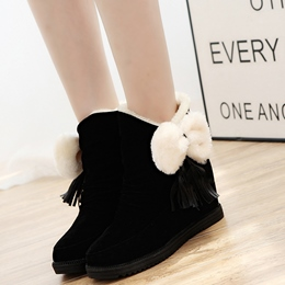 Shoespie Sweet Bow Round Toe Snow Boots