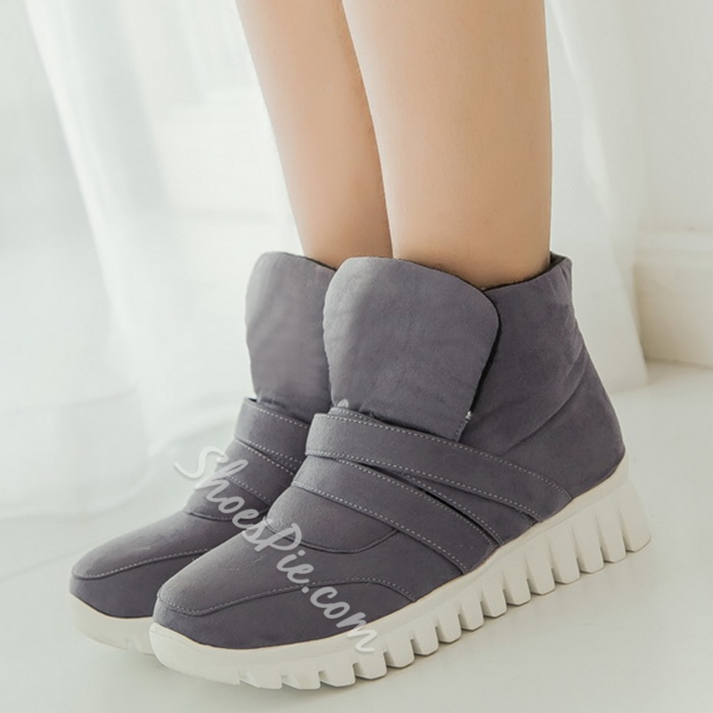 Shoespie Sporty Style Lug Sole Snow Boots