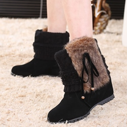 Shoespie Sweet Warm Woolen Flat Cheap Boots