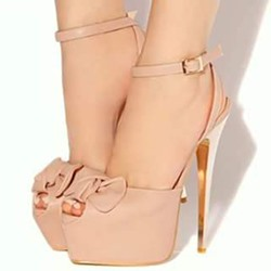 Shoespie Bowtie Platform Sandals