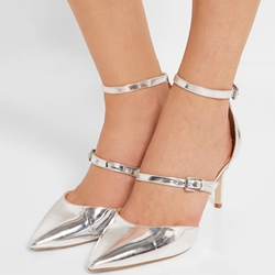 Shoespie Iridescent Sliver Pointed Toe Stiletto Heels