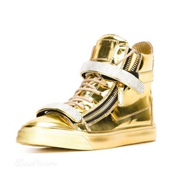 Shoespie Mirror PU Men's Sneakers