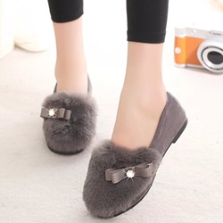 Shoespie Cute Furry Loafers