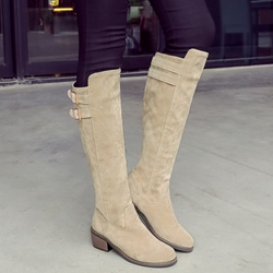 Shoespie Simply Soft Leather Knee High Boots