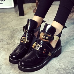 Shoespie Hard Giant Buckle Cheap Boots