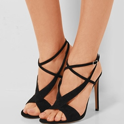 Shoespie Elegant Black Dress Sandals