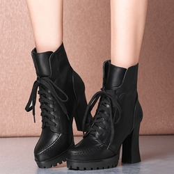 Shoespie Androgynous Designs Chunky Heel Moto Booties