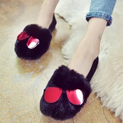 Shoespie Red Sunglass Embellished Loafers