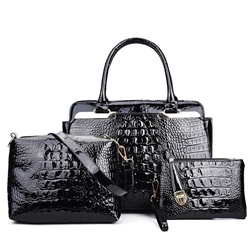 Shoespie Patent Leather Bag Sets