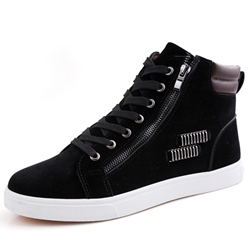 Shoespie Suede Side Zipper Men's Shoes