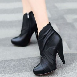 Cone Heel Fashion Boots