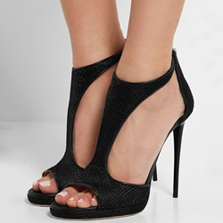 Shoespie Elegant Black Sandals