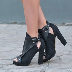 Shoespie Black Open Toe Sandals