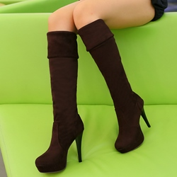 Shoespie Cheap Soft Leather Knee High Boots