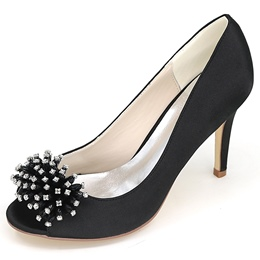 Shoespie Jewelled Open Toe Bridal Shoes