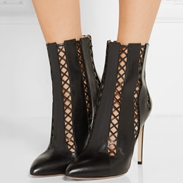 Shoespie Back Cut Out Pointed Toe Stiletto Heel Fashion Booties