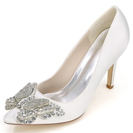 Shoespie Rhinestone Butterfly Appliqued Bridal Shoes