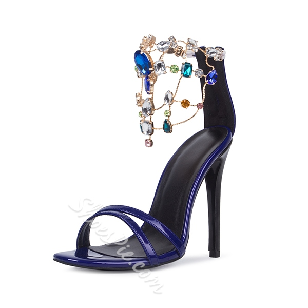 Shoespie Colorful Rhinestones Dress Sandals