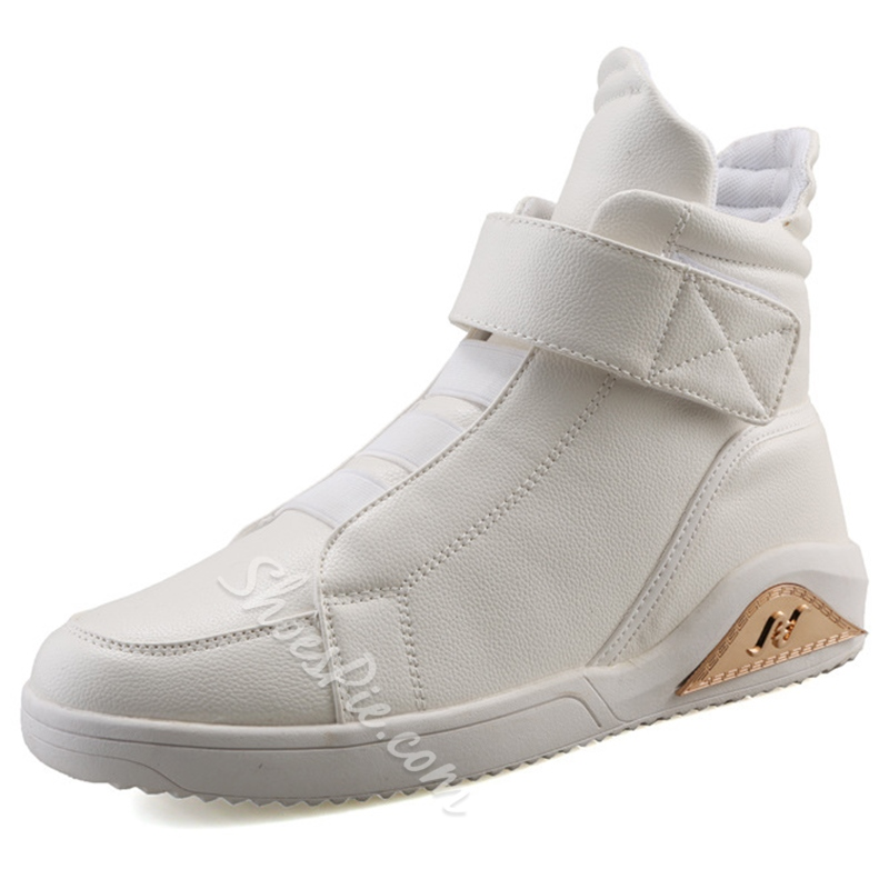 Shoespie Round Toe Velcro Western High Upper Men's Sneakers