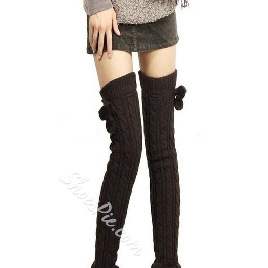 Marvelous Cable-Knit Knee-high Socks