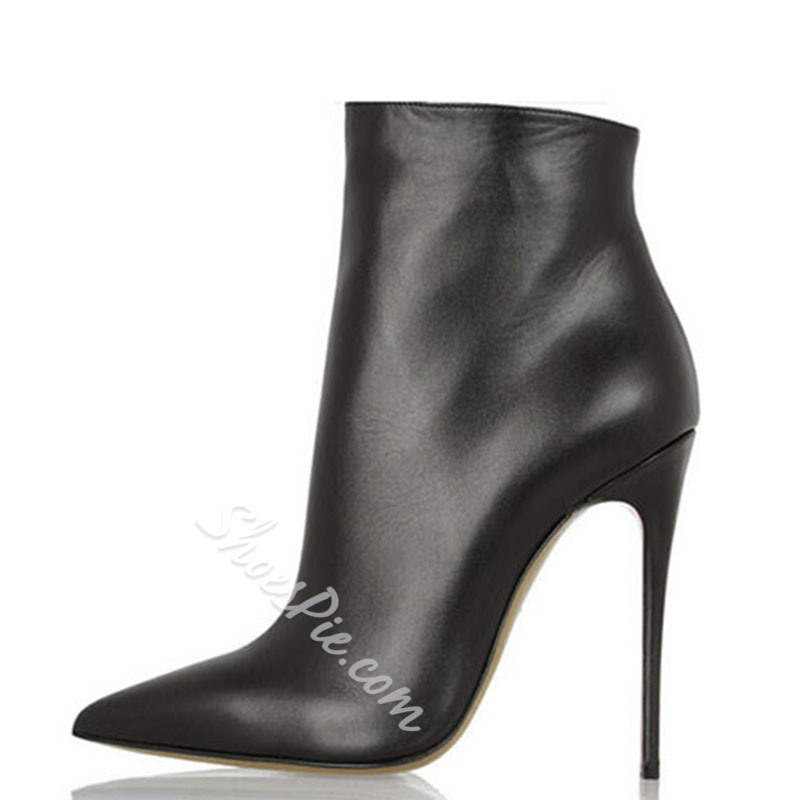 Shoespie Pure Color Pointed-toe Ankle Boots