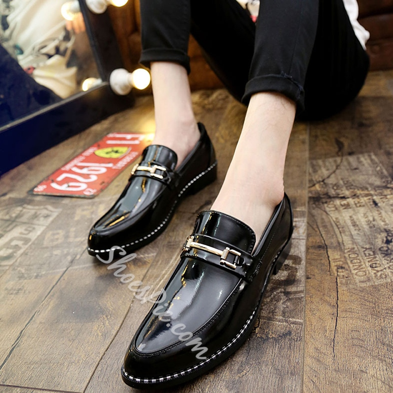 Shoespie Pointed Toe Men's Leather Shoes