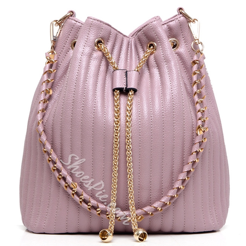 Shoespie Chic Drawstring Handbag