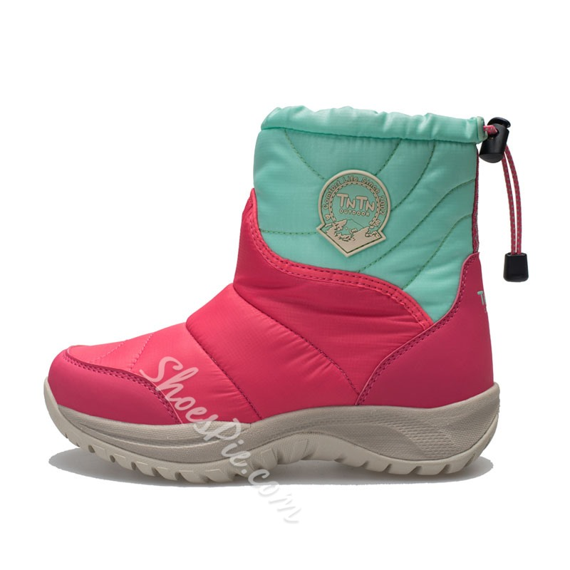 Shoespie Color Block Warm Waterproof Ankle Snow Boots (slightly smaller than the standard size)