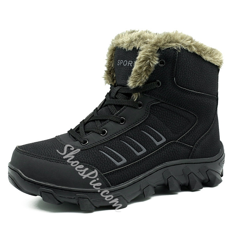 Shoespie Winter Warm Hiking Men's Boots