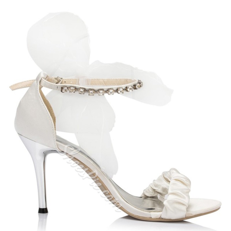 Shoespie Elegant Mesh Flower Bridal Shoes