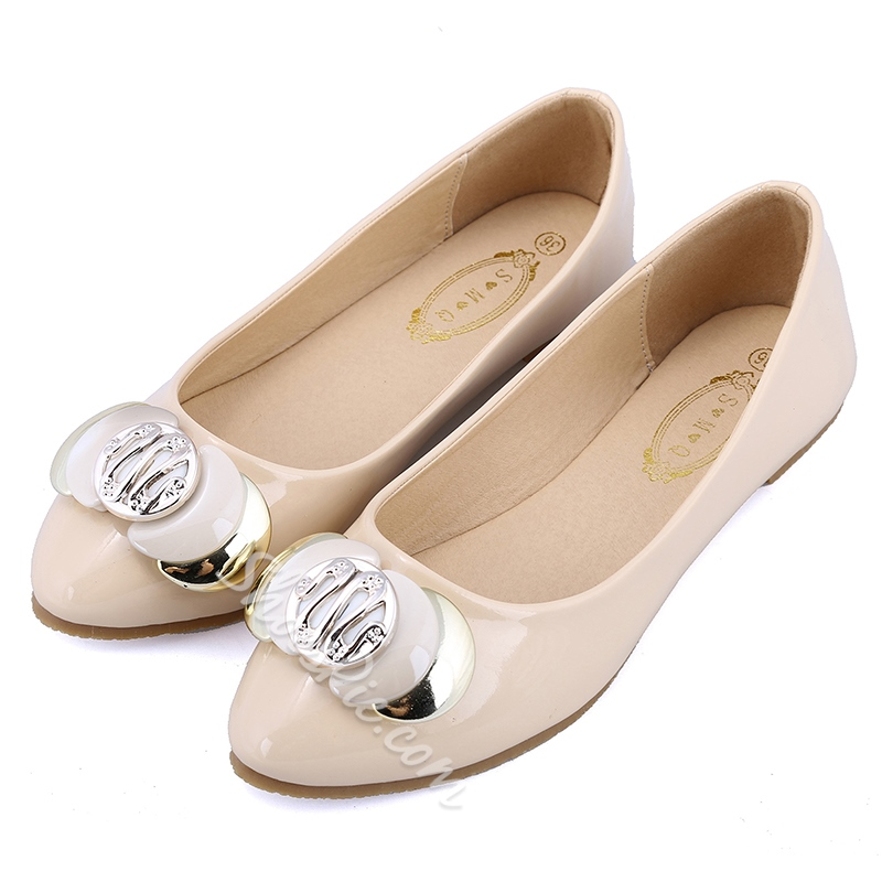 Shoespie Elegant Metal Embellished Loafers