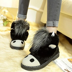 Shoespie Round Toe Cute Furry Snow Boots