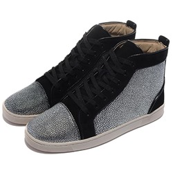 Shoespie Black Sequins Men's Sneakers
